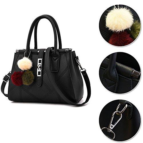 Yoome Womens Top Handle Satchel Ladies Tote Purse Crossbady Handbags - Verde Grigio