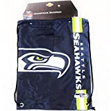 Forever Collectibles Seattle Seahawks Cropped Logo Drawstring Backpack Gym Sack