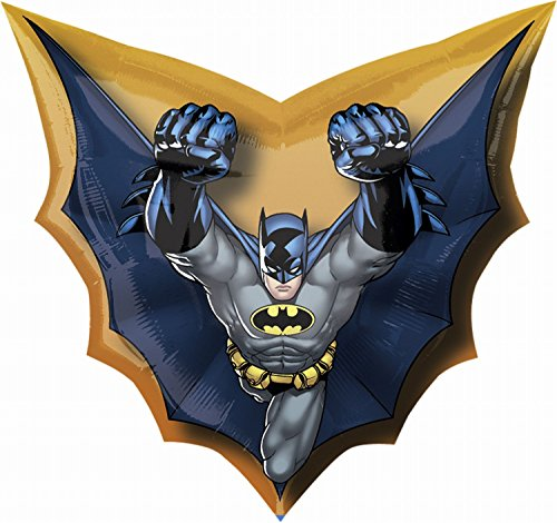 Anagram 1775501 - Party und Dekoration - Folienballon Super Shape - Batman, circa 71 x 69 cm