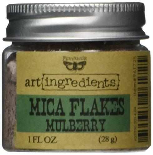 Finnabair Art Ingredients Mica Flakes 1oz-Mulberry -