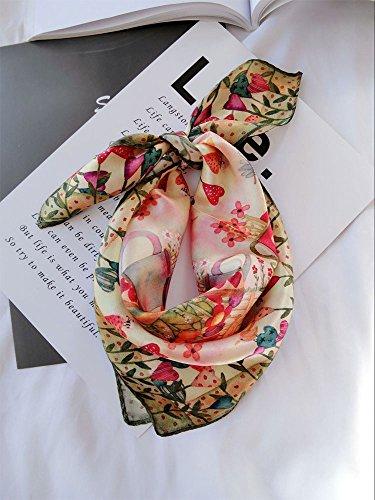 Upper de printemps/été soie petit carré foulards femme polyvalente à double usage soie foulards écharpe Loving hut