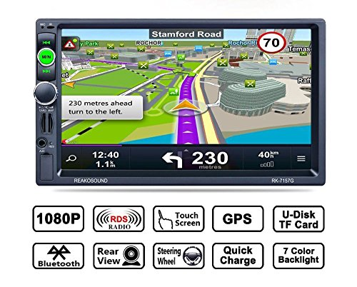 7 inch gps navigation the best amazon price in savemoney reakosound 7 pollici 2 din universale autoradio stereo gps navigatoremirror link for android fandeluxe Image collections