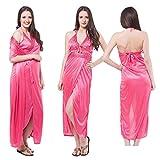 Odishabazaar Hot Sleep Wear 2pc Nighty Over Coat Blue Women Babydoll Bed Night Set