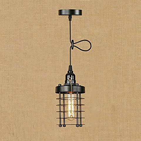 Retro industrial annular hollow small iron cage pendant lights, balcony