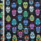 Timeless Treasures - Skulls Color 2 - Baumwolle - USA Stoff
