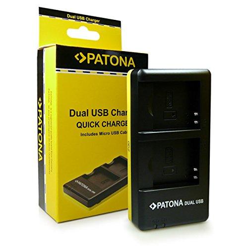 PATONA Dual Schnell-Ladegerät NP-BN1 für Akkus Sony Cyber-Shot DSC-QX100 QX30 T110 T99 TF1 TX100V TX20 TX30 TX55 TX66 TX7 TX9 W310 W350 W520 W570 W580 W620 W630 W650 inkl. Micro USB Cyber-shot Digital-batterie