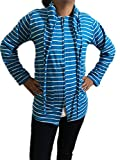 #9: Mahi Fashion Summer Sun Coat Size - L (Blue Lining) Girls/ Women/ Ladies
