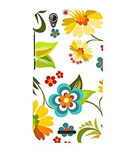 For Acer Liquid Z630 :: Acer Liquid Zade Z630S hibiscus pattern, flower, white background Designer Printed High Quality Smooth Matte Protective Mobile Case Back Pouch Cover by APEX ELEGANT