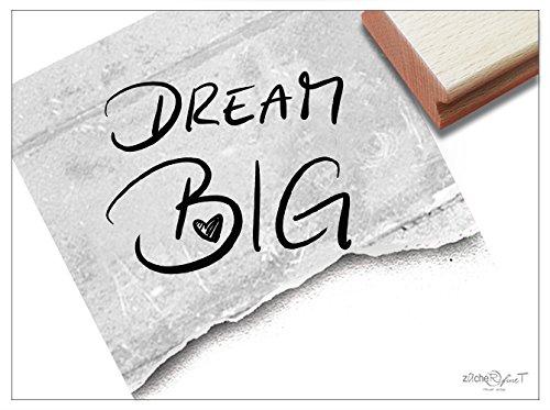 (Stempel -Textstempel Dream Big Handschrift - Schriftstempel Glückwünsche Einladung Gutschein Karten Geschenke Basteln Deko - von zAcheR-fineT)