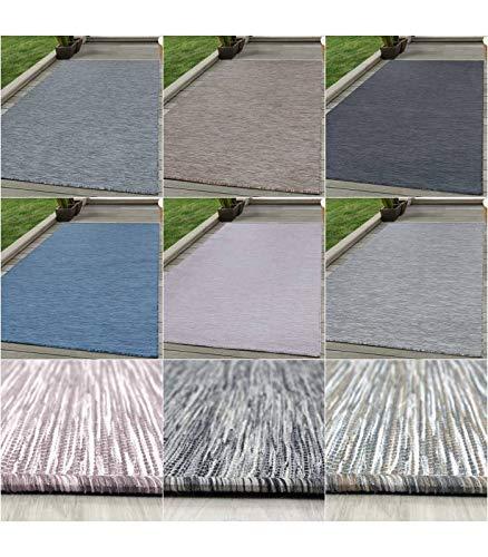 Sisal Teppich Flachgewebe Terrassen Indoor Outdoor Melierung vers. Farben Größen - Anthrazit-Grau, 120x170 cm -