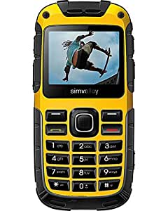 SimValley Mobile - GSM solaire GPS Outdoor Dual Sim ''XT-930'' jaune