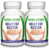 Maximum Strength Belly Fat Buster by Natural Answers - Slimming Body Waist Tablets - Appetite Suppressant Formula - High Quality Dietary Supplement - Quick Weight Loss Assistance Fat Burning Supplement - Two Month Supply - Intense Metabolism and Energy Bo