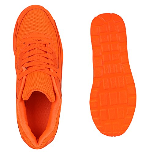 Damen Herren Unisex Laufschuhe Neon Runners Casual Schuhe Sportschuhe Neonorange