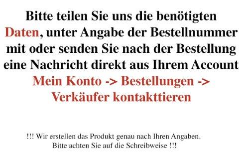Amilian Kissen 40 x 40 cm mit Namen Datum Anker klein blau -
