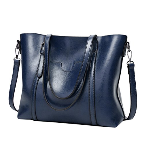 YiLianDa PU Leder Taschen Henkeltaschen Large Tote Schultertaschen Damen Umhängetasche Handtaschen Damen Tasche als Bild(3)