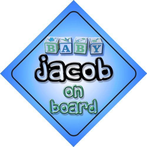 jacob-on-board-baby-boy-auto-a-forma-di-cartello-regalo-per-bambini-e-neonati