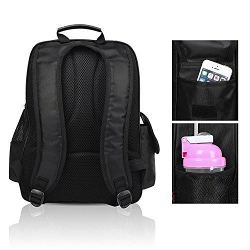 KINDOYO Jungen Mädchen Wasserdichte Rucksack für Kinder Unisex Schulrucksäcke Rucksack für Reisen, Wandern Rose-S