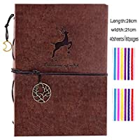 NORTHERN BROTHERS Photo Album - A4 Scrapbook Self Adhesive Photo Albums Scrap Book with photo corners (40 Sheets)