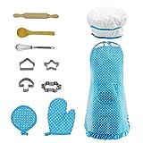 Teabellle Cupcake Chef - Juego de Disfraz para Cocina y horneado para niñas pequeñas, 11 Unidades