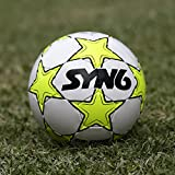 #1: SYN6 !! Launch Offer !! SYNSHINE Football, Size 5 , fluorescent Green, Rubber Soccer Ball for Hard Grounds