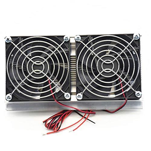 sdfghzsedfgsdfg Thermoelektrische Peltier Kühlung Kühlsystem Kit Semiconductor Große Kühlbox Kühler Kalt Conduction Module Doppel Fans schwarz