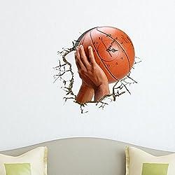 YYH 3D Murales Wall Murales Reloj Murales DIY Baloncesto Shoot Reloj Etiqueta