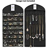 HomeStrap Hanging Non Woven Jewellery Organizer (Without Hanger) - Black