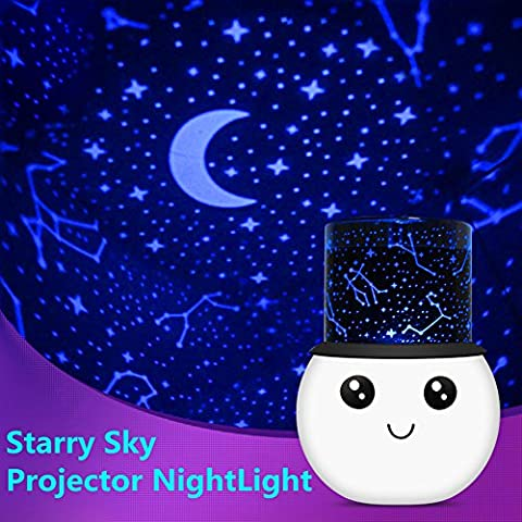 LED Projector Night Lamp,Florally Rechargeable Romantic 2 Modes Baby Night Lights Projector Wake Up Light Celling Light For Children Kids Baby Projection LED Night Lights Toys Table Lamps Lovely Christmas Gift Decorative Light (Stray)