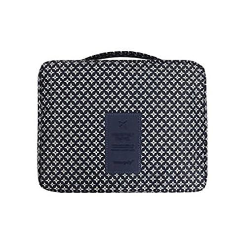 Incendemme Trousse/Sac de Toilette Impermeable Unisex Portable Trousse Maquillage Trousse de Voyage - Grand Capacite Multi Poches Simple Legere (Etoile Bleu)