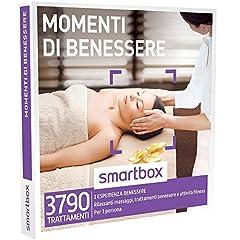 Idea Regalo - Smartbox Cofanetto Regalo - MOMENTI DI BENESSERE - Rilassanti Massaggi, trattamenti benessere e attività fitness