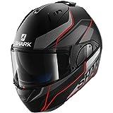SHARK Casque Moto Evo One Krono Mat KAR, Noir, Taille S