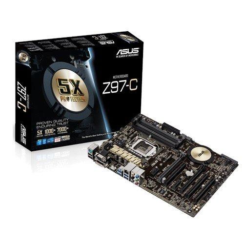 Asus Z97-C Mainboard Sockel 1150 (ATX, Intel Z97, 4x DDR3-Ram, 1x SATAe, 6x SATA ,1x PCIe 3.0 x16) (Asus Z97 A Mainboard)