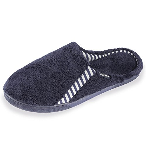 Isotoner Chaussons mules homme rayures Homme Bleu