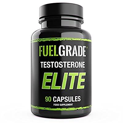 FUELGRADE Testosterone Testo Elite Men's Natural Supplement Low T Testo Booster | Promotes Healthy Libido Energy Levels | Supports Fat Burning Weight Loss | Contains Tribulus Terrestris, D-Aspartic Acid, Zinc, Magnesium, Vitamin B6 | Easy Swallow Capsules