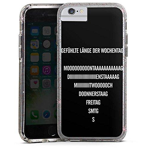 Apple iPhone 8 Bumper Hülle Bumper Case Glitzer Hülle Wochenende Vie Leben Bumper Case Glitzer rose gold