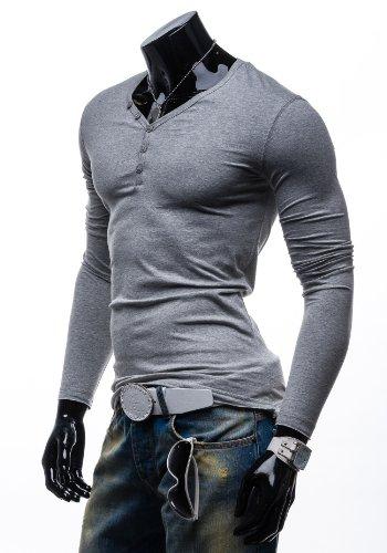 BOLF Longsleeve T-Shirt Langarm Shirt Sweatshirt Pullover Pulli STEGOL 545 Grau