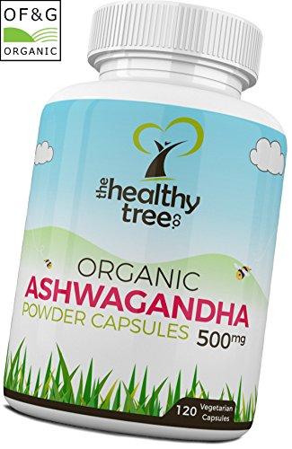 Bio Ashwagandha Kapseln - 100% natürliches ayurvedisches Adaptogen-Heilkraut, um Geist, Körper und...