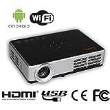 HTP Mini Vidéoprojecteur Projecteur DLP Fonction 3D 500 ISO Lumens 1280 x 800 résolution native, peut soutenir 800p Projecteur 3D