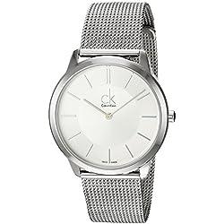 Calvin Klein Reloj Analógico de Cuarzo para Hombre con Correa de Acero Inoxidable – K3M21126