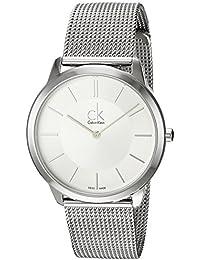 Calvin Klein K3M21126 - Reloj Analógico de cuarzo con correa de acero inoxidable, ...