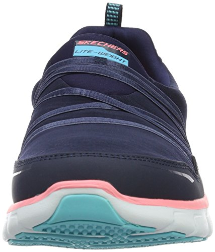 Skechers Synergy Scene Stealer, Baskets Basses Femme Bleu (Nvpk)