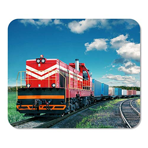 Mousepad Notizblock Büro Fracht Güterzug Logistik Transport Eisenbahn Eisenbahnwaggon Schifffahrt Lokomotive Home School Game Player
