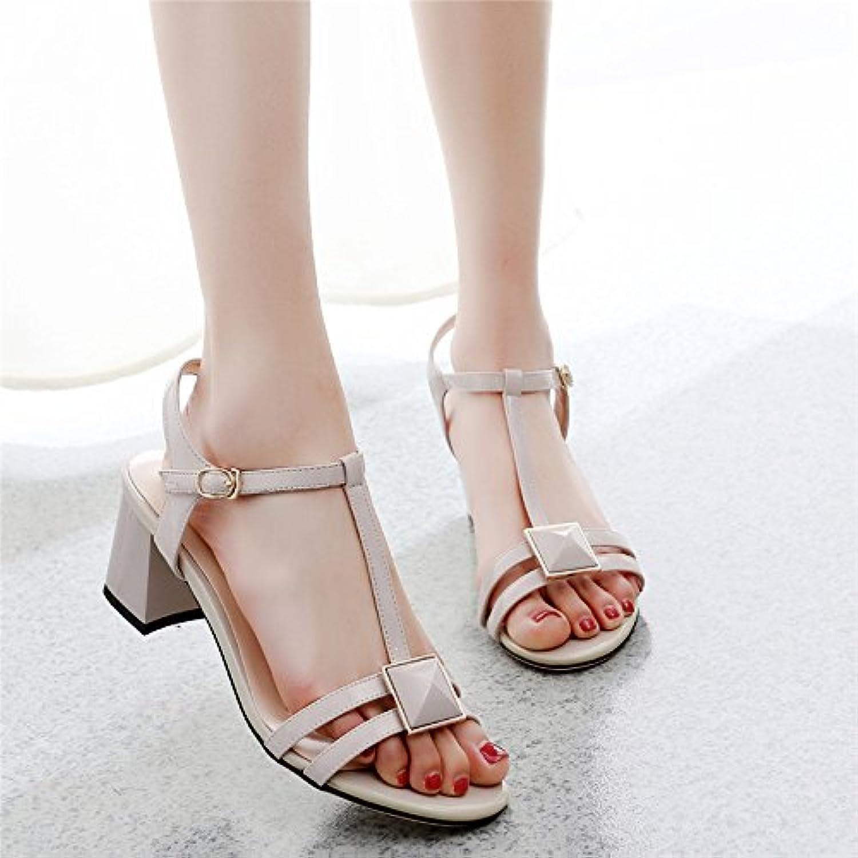 GTVERNH-5-8cm scarpe col tacco tacco tacco alto donna summer sandali con spessi tipo diamante t vuoto tutto corrisponde temperamento... | Numeroso Nella Varietà  1be053