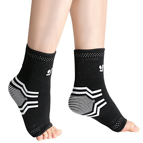 Plantar Fasciitis Socks with Arch & Ankle Support, OMorc Unisex Compression Socks Feet Sleeves for Eases Swelling & Heel Spurs, Ankle Brace Support, Increases Circulation, Relieve Pain Fast - Medium Size (1 Pair) Test