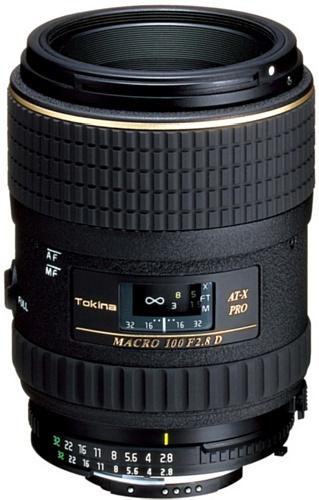 Tokina AT-X M100/2.8 Pro D Makro-Objektiv (55 mm Filtergewinde, Abbildungsmaßstab 1:1) für Nikon Objektivbajonett