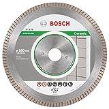 BOSCH Diamanttrennscheibe Best für Ceramic Extra-Clean Turbo, 180 x 22,23 x 1,6 x 7 mm, 2608603596