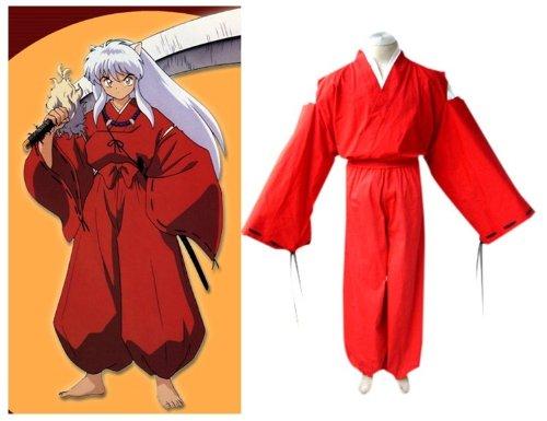 Kostüm Inuyasha - Inuyasha Inuyasha Cosplay Kostüm Kimono, Größe XL :(Höhe 173-177cm,Gewicht 70-85 kg)