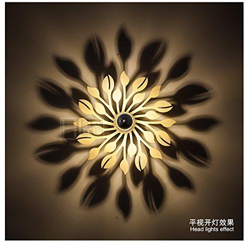 FIONADAN Personalisierte Wohnzimmer Wandleuchten Wandleuchten Hintergrund Schlafzimmer Bett Lampen Wandleuchten LED-Licht Schatten Wandleuchten Blume (30 cm) (Lampe Schatten Rechteckigen)