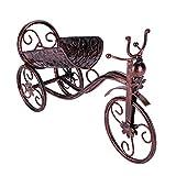 Portabottiglie metallo tricycle-shaped rosso vino rack ripiano, home office soggiorno decorazione accessori, vintage color
