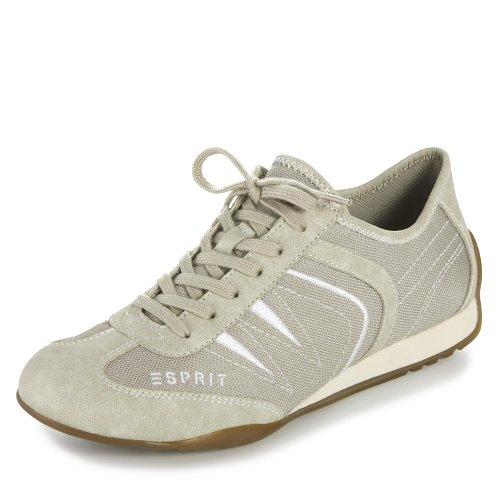 ESPRIT 026EK1W008/260 Damen Schnürhalbschuh sportlicher Boden Beige (Beige)